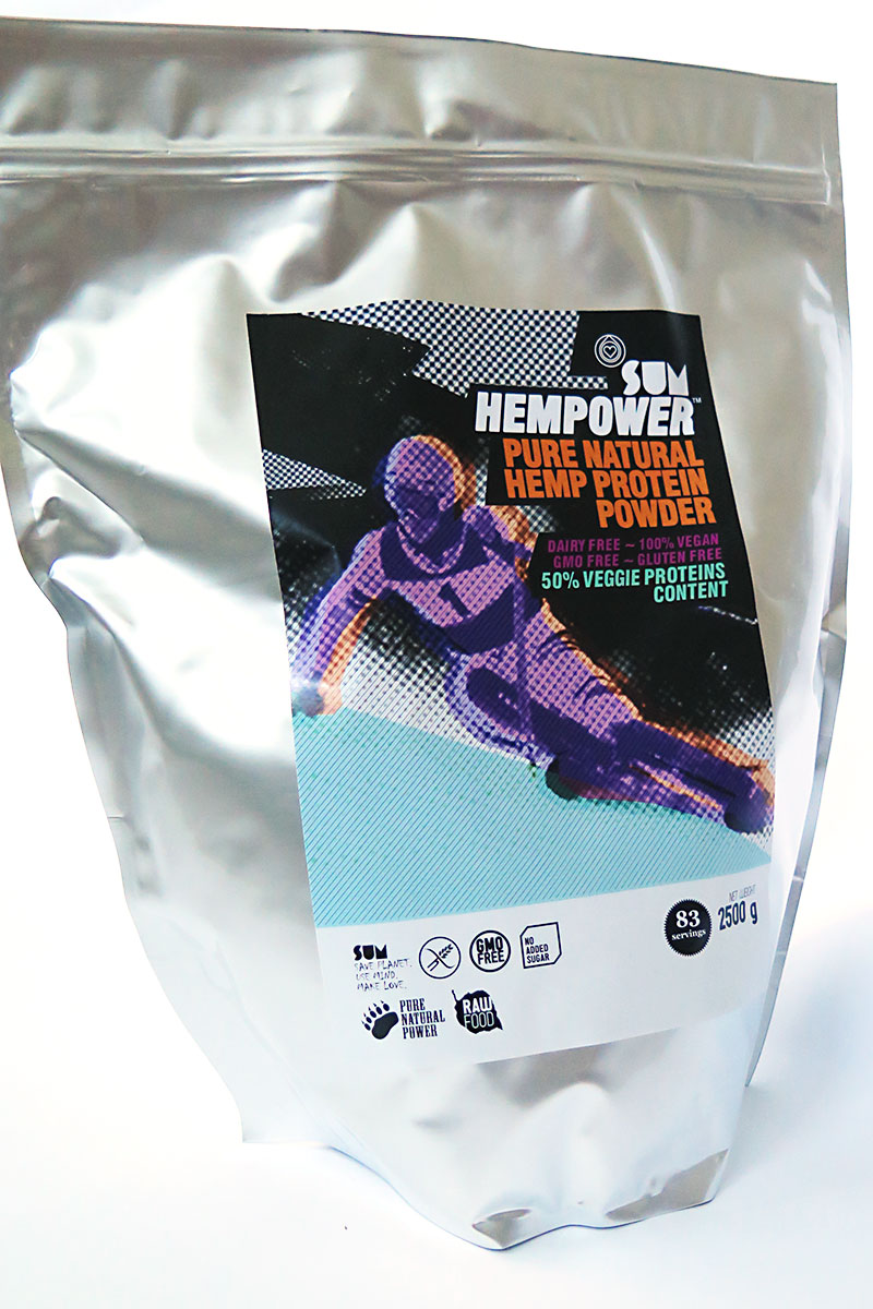 SUM Hemp Protein Powder Pure Natural HEMPOWER 2,5 kg / SUM Konopný proteín Pure Natural HEMPOWER 2,5 kg
