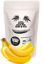 ULTIMATE VEGAN Protein Drink Hemp+Pea BANANA MANNA 450 g / ULTIMATE VEGAN Proteínový Nápoj Hemp+Pea BANANA MANNA 450 g